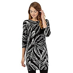 The Collection - Black leaf print tunic