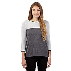 The Collection - Dark grey colour block jumper