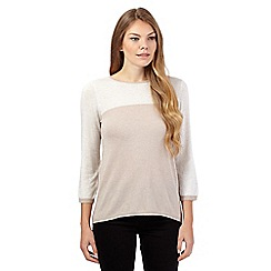 The Collection - Beige colour block jumper