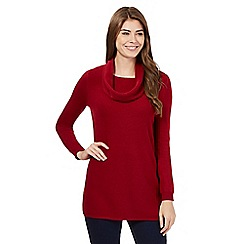 The Collection - Red ribbed jumper