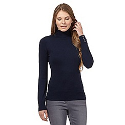 The Collection - Navy roll neck jumper