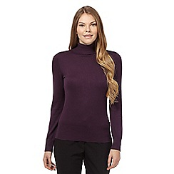 The Collection - Dark purple roll neck jumper