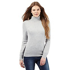 The Collection - Grey roll neck jumper