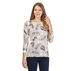 The Collection - Cream leaf print jumper