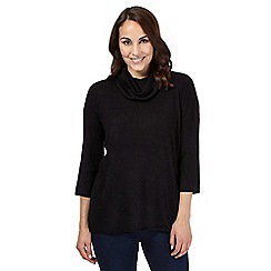 The Collection - Black cowl neck top
