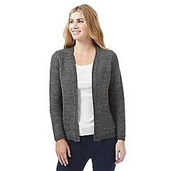 The Collection - Dark grey textured cardigan