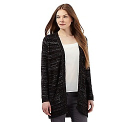 The Collection - Black contrast boucle cardigan