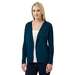 The Collection - Dark turquoise ribbed cardigan