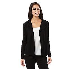 The Collection - Black short ribbed cardigan
