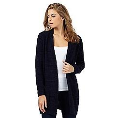 The Collection - Navy marl coatigan