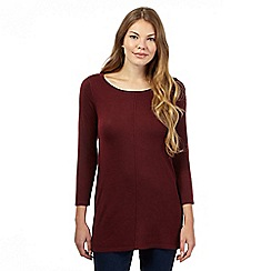 The Collection - Dark red dip hem tunic