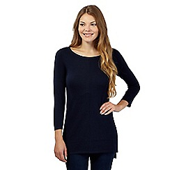 The Collection - Navy hem dip hem tunic