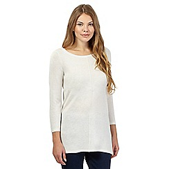 The Collection - Ivory hem dip tunic