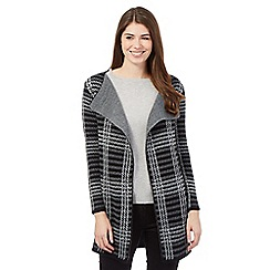 The Collection - Grey knitted checked coatigan