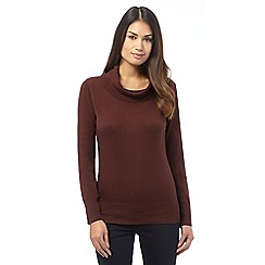 The Collection - Dark red cowl neck jumper