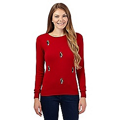 The Collection - Red sequinned penguins jumper