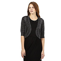 The Collection - Dark grey sparkle shrug
