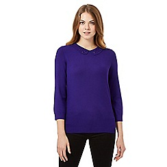 The Collection Petite - Purple beaded petite jumper