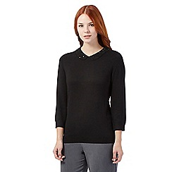 The Collection Petite - Black bead detail petite jumper