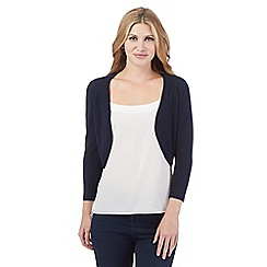 The Collection - Navy three quarter length sleeve shrug