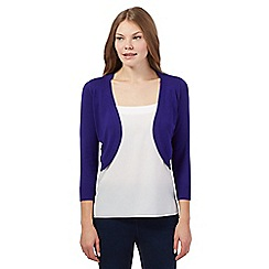 The Collection - Purple three quarter length sleeved shrug