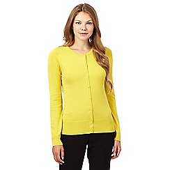 The Collection Petite - Lime plain crew neck cardigan