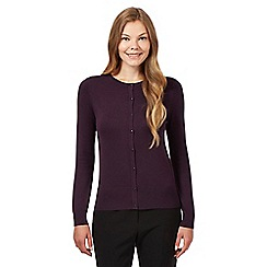 The Collection Petite - Petite plum crew neck cardigan