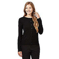 The Collection Petite - Black crew neck petite cardigan