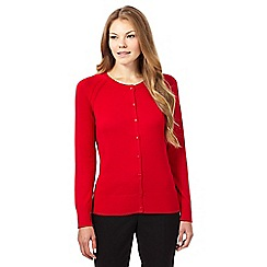 The Collection - Red square button cardigan