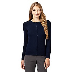 The Collection - Navy square button cardigan