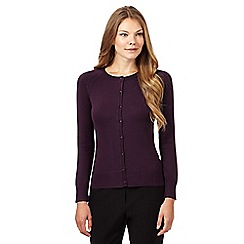 The Collection - Purple square button cardigan