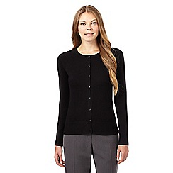 The Collection - Black square button cardigan