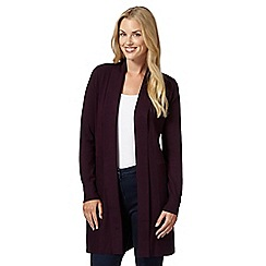 The Collection - Plum ribbed edge to edge cardigan
