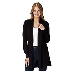 The Collection - Black ribbed edge to edge cardigan