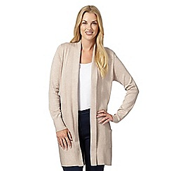 The Collection - Natural ribbed edge to edge cardigan