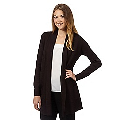 The Collection - Chocolate ribbed edge to edge cardigan