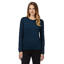 The Collection Petite - Dark turquoise popper back jumper