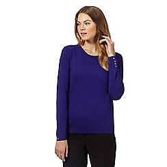 The Collection - Purple popper back jumper