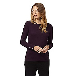 The Collection Petite - Plum petite popper back jumper