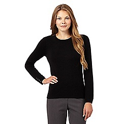 The Collection Petite - Black petite popper back jumper