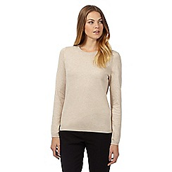 The Collection - Natural popper back jumper
