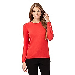 The Collection - Coral popper back jumper