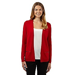 The Collection - Red zip pocket cardigan