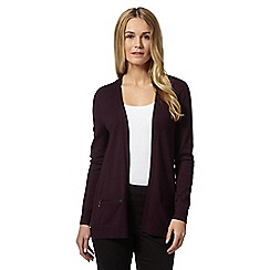 The Collection - Plum ribbed detail cardigan