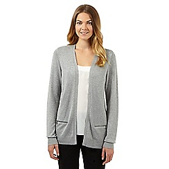 The Collection - Grey zip pocket cardigan