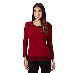 The Collection Petite - Dark red tipped jumper
