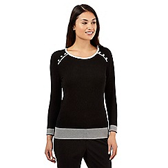 The Collection Petite - Black tipped jumper