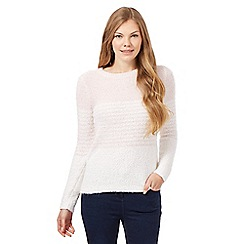 The Collection - Pale pink ombre-effect zip jumper
