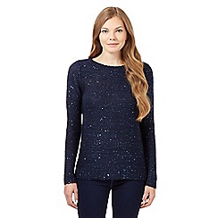 The Collection - Navy sequinned jumper