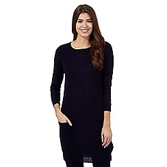 The Collection Petite - Navy ribbed tunic